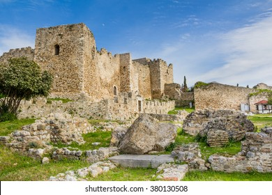 Old historic castle of Patras in Achaea on Peloponnese in Greece