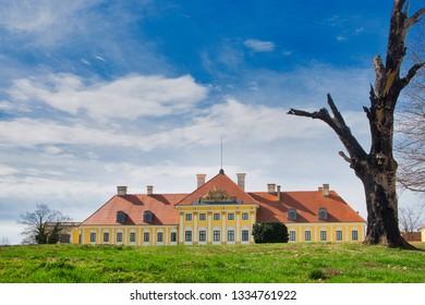 The old historic castle of Vukovar, Croatia, on a sunny day