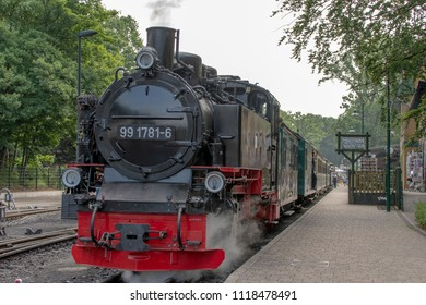 old historic german steam locomotive at the Island ruegen