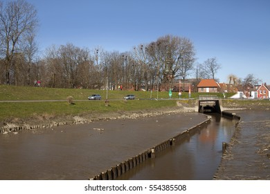 The old historic harbor of Toenning, Schleswig-Holstein, Germany, Europe