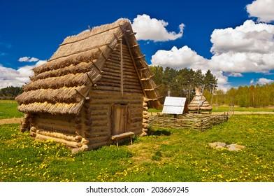 old historic huts