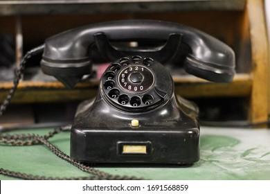An old historic rotary phone - Shutterstock ID 1691568859