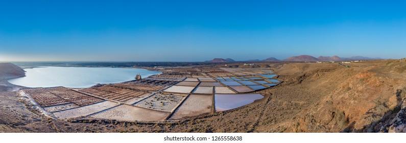 old historic salt mine in Janubio, Lanzarote