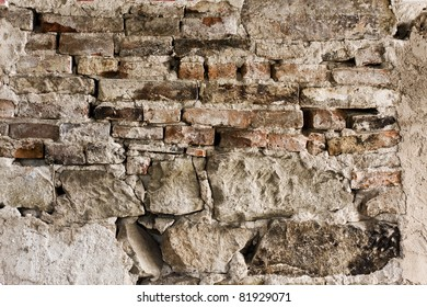 Old historic stone wall, great for use as background