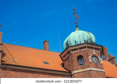 The old historic townhall of Stege, Moen Island, Denmark, Scandinavia, Europe.