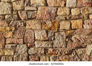 old historic wall with natural stones