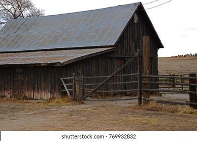 Old Historic Wooden Barn