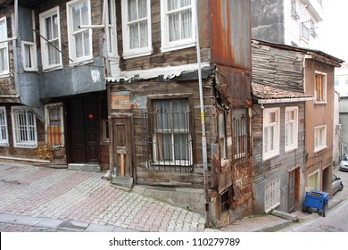 Old historical apartment house in Tarlabasi, Istanbul, Turkey