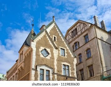 Old historical buildings in Riga, Latvia