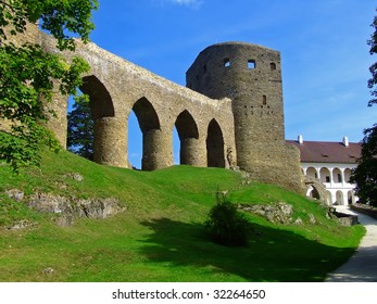 old historical castle - summery day