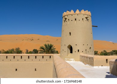 Old historical fort Mezaira'a in Liwa Oasis, United Arab Emirates