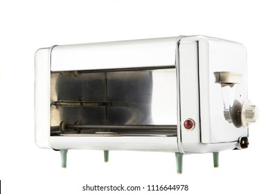 old home oven isolated on white background
