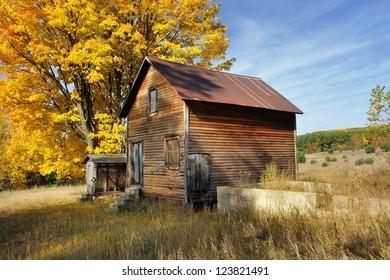 Old Homestead Sleeping Bear Dunes National Lakeshore.  Michigan Autumn