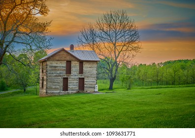 Old Homestead at Sunset