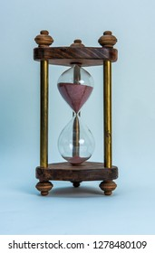 Old Hourglass sand flow time passing