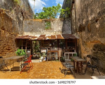 Old house abandoned open a traditional  coffee shop.,selling old coffee,old town,Takuapa market, Phang Nga Thailand