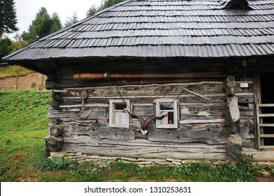 The old house is ancient, completely built of wood standing on the outskirts of the abandoned village where people no longer live