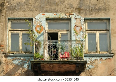 Old house and balcony.