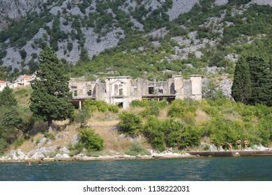Old house in Boka Kotorska bay