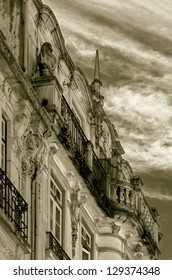 Old house in the Coimbra - Portugal (stylized retro)