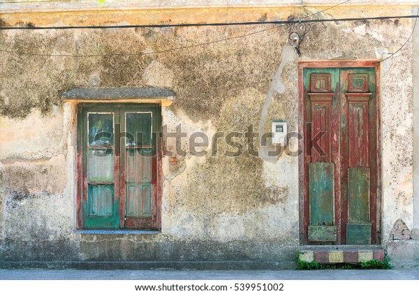 Old house facade at San Gregorio de Polanco, Tacuarembo, Uruguay