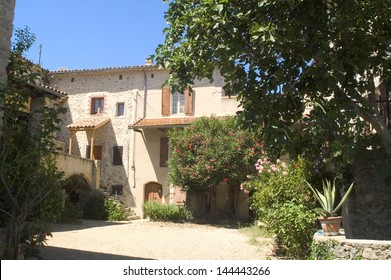 Old house in a French small village located in the Cevennes in the department of Gard at the South-east of France.