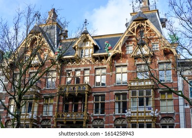 Old house with gnomes in Amsterdam