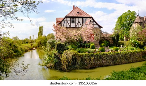 Old house in the half-timbered style in Germany