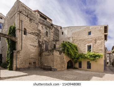 Old house in historic city center of St Remy de Provence. Buches du Rhone, Provence, France.