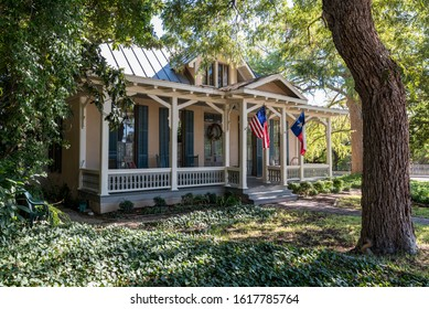 Old House in King William Historic District in San Antonio