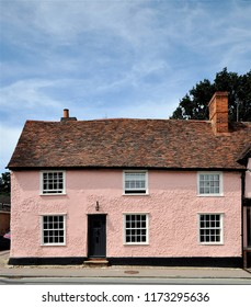 An old house at Lavenham, a village in the English county of Suffolk, UK.