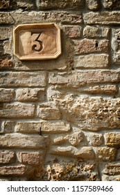 Old house number 3 on very old house made from bricks and love