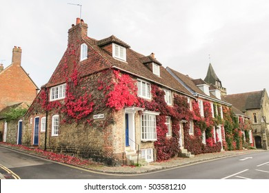 Old house on the corner of Church Hill and Sheep Lane in Midhurst, England