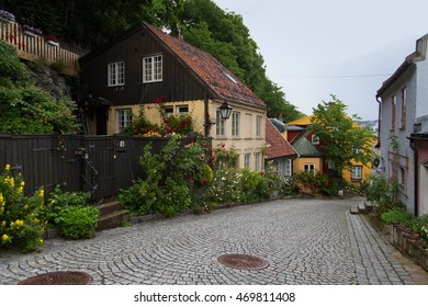 Old house porch on Telthusbakken Street in Oslo, Norway