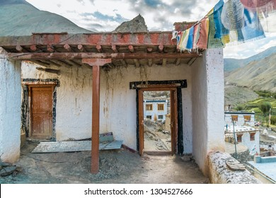 Old house in remote village in Ladakh region in India.