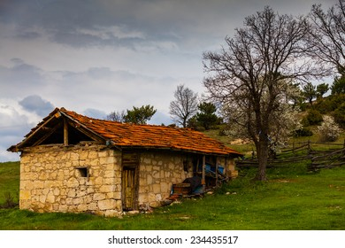 Old house in rural area of Turkey Country