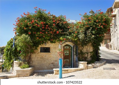 old house in Safed in which  lived and worked for an Israeli artist Moshe Castel, Upper Galilee, Israel