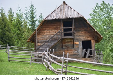 Old House in Sirogojno Ethno Village and Open-Air Museum, Serbia