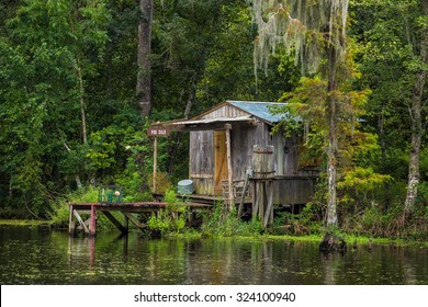 Old house in a swamp in New Orleans Louisiana USA