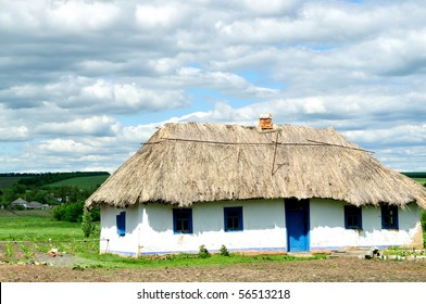 The old house with a thatched roof