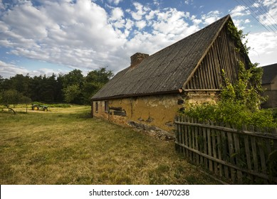 old house, thatched house, somewhere in poland (middle europe)