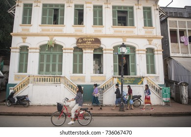 a old  house in the town of Luang Prabang in the north of Laos in Southeastasia,  lao, luang prabang, november, 2017, ..