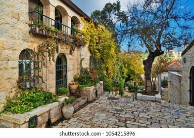 old house in Yemin Moshe district, Jerusalem, Israel