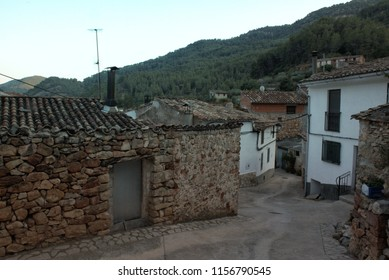 Old houses in Ares del Maestre in Spain