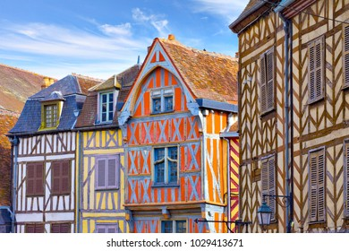 Old houses in Auxerre, Burgundy, France