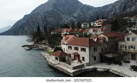 Old houses in Boka Kotorska bay