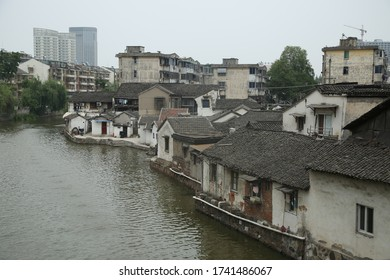 Old houses by the river