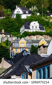 old houses in the city of Bergen, Norway
