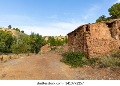 old houses close to Chelva river, province of Valencia, Valencian Community, Spain