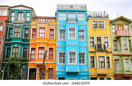 Old Houses in Fener District, Istanbul City, Turkey